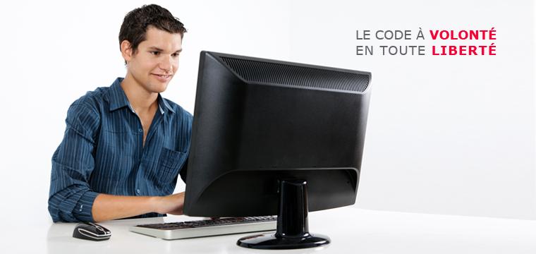 Code en ligne à volonté en toute liberté